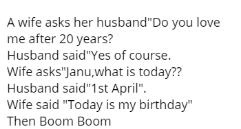 A wife asks her husband